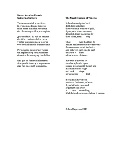 Museo Naval de Venecia Ben Meyerson Translation